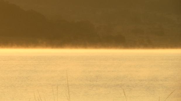 Mist on water