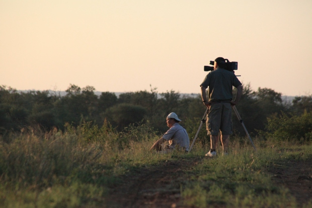 Deon and I filming at Madikwe IMG_6602